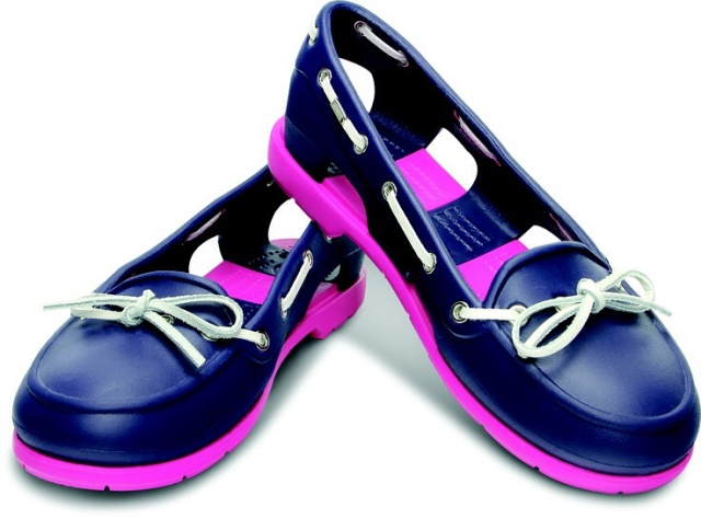 These boat shoes from Crocs come in a variety of colors and are very comfortable.