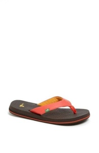 I have two pairs of Sanuk flip flops which are made from yoga mats.  They feel delightful!