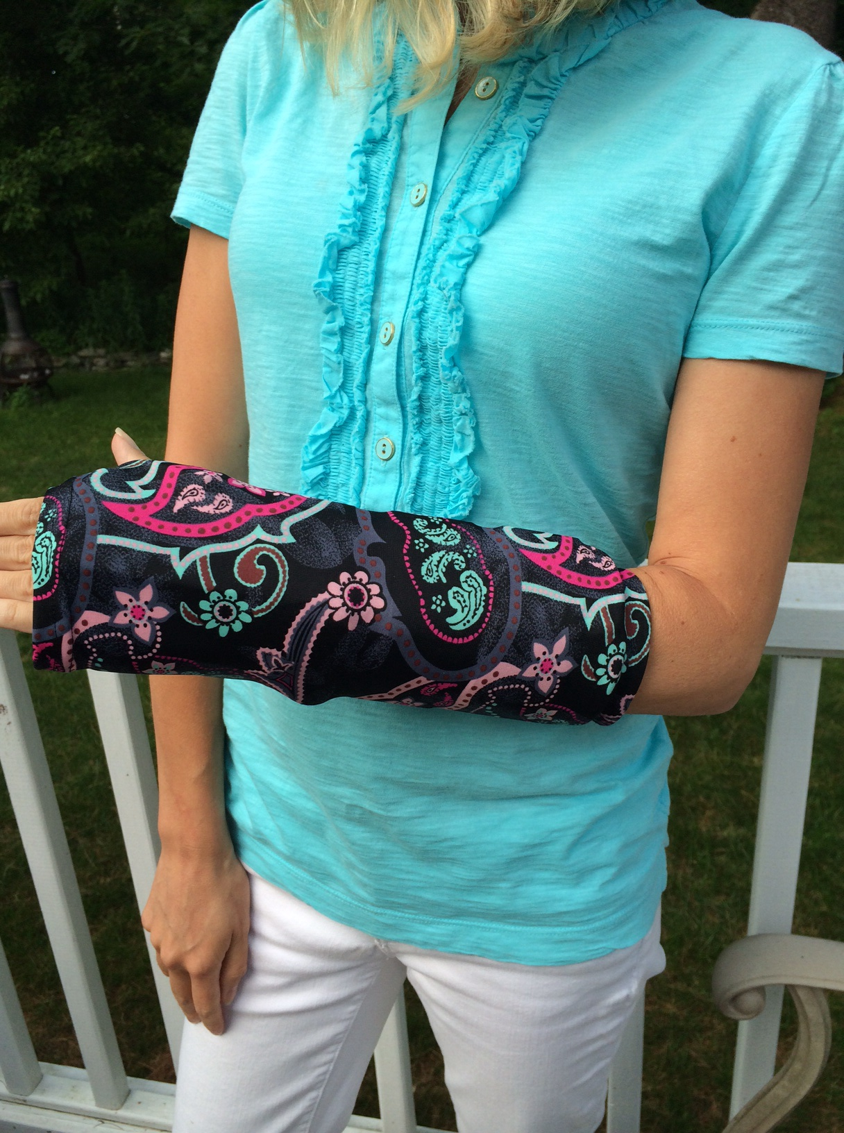 how to help a broken arm